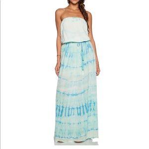 Gypsy 05, Tie Dye Silk Tube Maxi Dress
